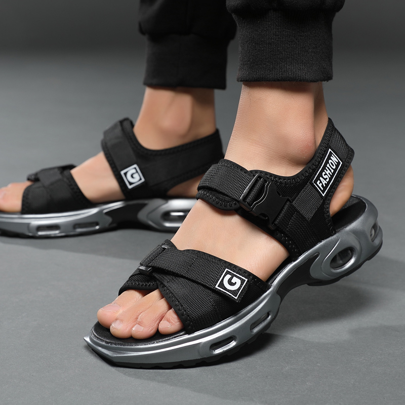 Men Air cushion sandals Men casual shoes ankle strap men slippers Summer beach shoes men Hombre Gladiator Sandals Flip Flops(China)
