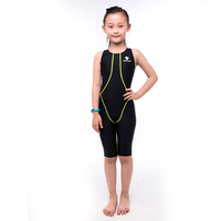 HXBY Girl S One Piece Bathing Suit Kids Swimsuit Childre Racing Competition Athletic Bodysuit Backless Girl