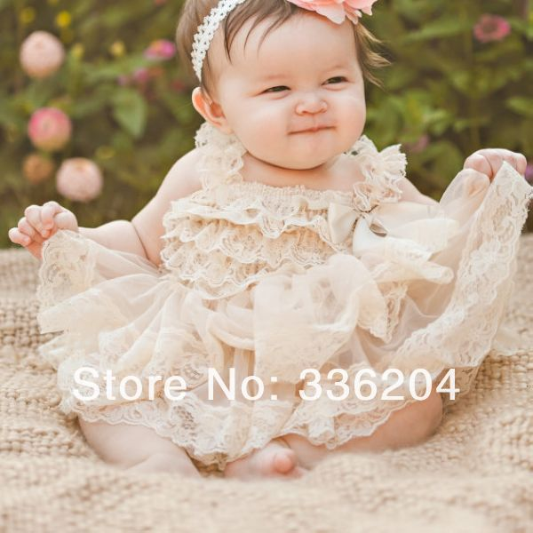 d38b4fbdc96c Free Shipping DELUXE Ivory lace dress- girls ivory flower girl dress -  pictures