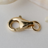 Solid 14k Gold Clasp Lobster Claw Trigger Buckle For Necklace Bracelet Jewelry Findings 5 9mm 14ct