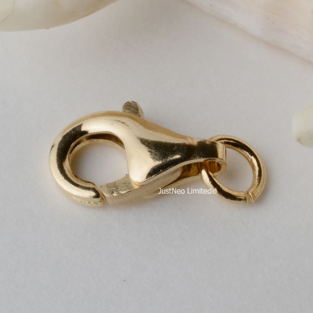 Solid 14k Gold Clasp Lobster Claw Trigger Buckle For Necklace Bracelet Jewelry Findings59mm 14ct Yellow Stamp 585