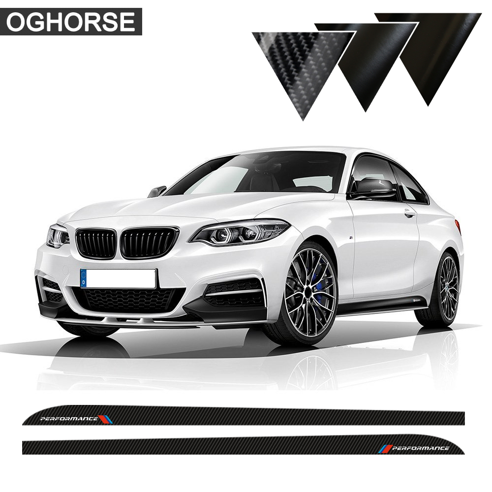 M Performance Door Side Skirt Sill Racing Stripe Sticker Decals para BMW 2 series F22 F23 220i 228i 235i Accesorios