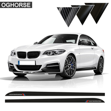 M Performance Door Side Skirt Sill Racing Stripe Sticker Decals For BMW 2 series F22 F23 220i 228i 235i Accessories