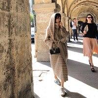 Клетчатая Кепка кашемировое пальто женский банный Халат средней и длинной шерсти двухсторонняя тканевая куртка женская 2019 пальто