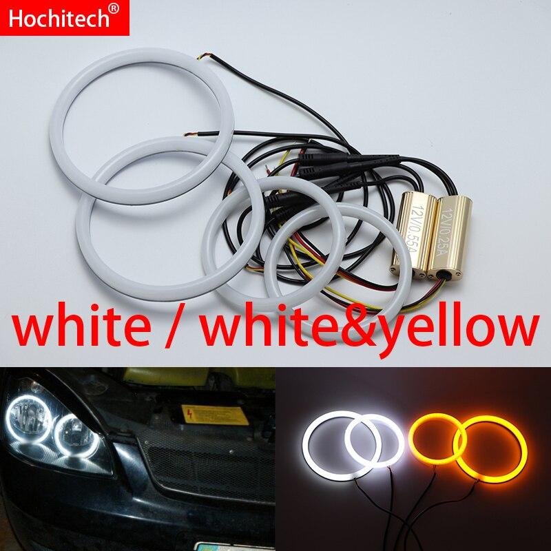 For Lada Priora VAZ 2170 2171 2172 White yellow Cotton LED Angel eyes kit halo ring