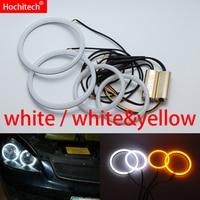 For Lada Priora VAZ 2170 2171 2172 White & yellow Cotton LED Angel eyes kit halo ring Turn signal light