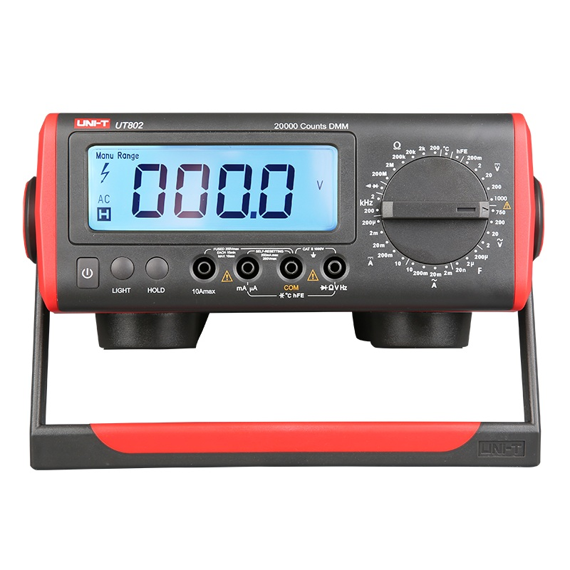 UNI-T UT801 UT802 Bench Type/Desktop Automatic Range True Valid Values Digital Multimeter with Thermometer, LCD Display hot sale ut802 uni t bench type digital multimeter automotive multimeter