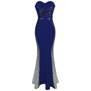 Angel-fashions New Prom Dresses Gradient Sequin Splicing Dress Blue 384 1