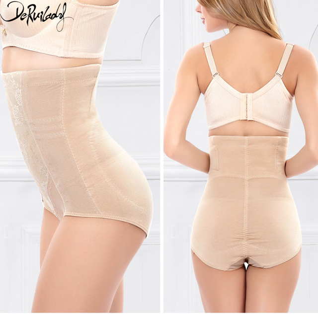 064fdfb858587 DeRuiLaDy Waist Trainer Corset Shapers Slimming Belt High Waist Panties  Briefs Shapewear Hot Shapers Jacquard Bodysuit Women