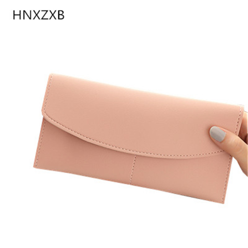 HNXZXB Hot Sale Women Lady Long Wallets Purse Female Candy Color Bow PU Leather Carteira Feminina for Coin Card Clutch Bag hnxzxb tassel pendant design small clutch wallets for women coin purses card holders invoice pocket pu leather female lady bag