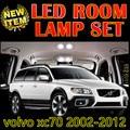 6 X frete grátis Erro Free Car LED Interior Do Veículo acessórios mapa Dome Porta Luzes Kit Pacote para volvo xc70 2002-2012