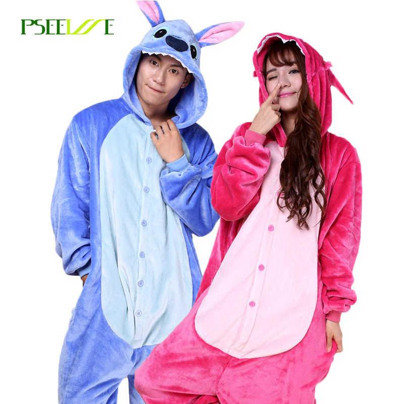 Стежка пижамы детские животные пижамы для взрослых девочек Домашняя одежда  Комбинезоны для пижамы для взрослых Женский 69de1c4b821bf