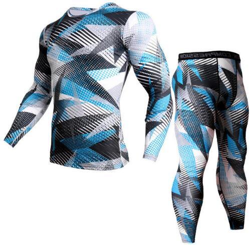 Camouflage Tracksuit Men Compression Clothing Fitness Shirt Men Long Sleeves Tights T-shirt + Men Leggings Kit Hot Selling XXXL