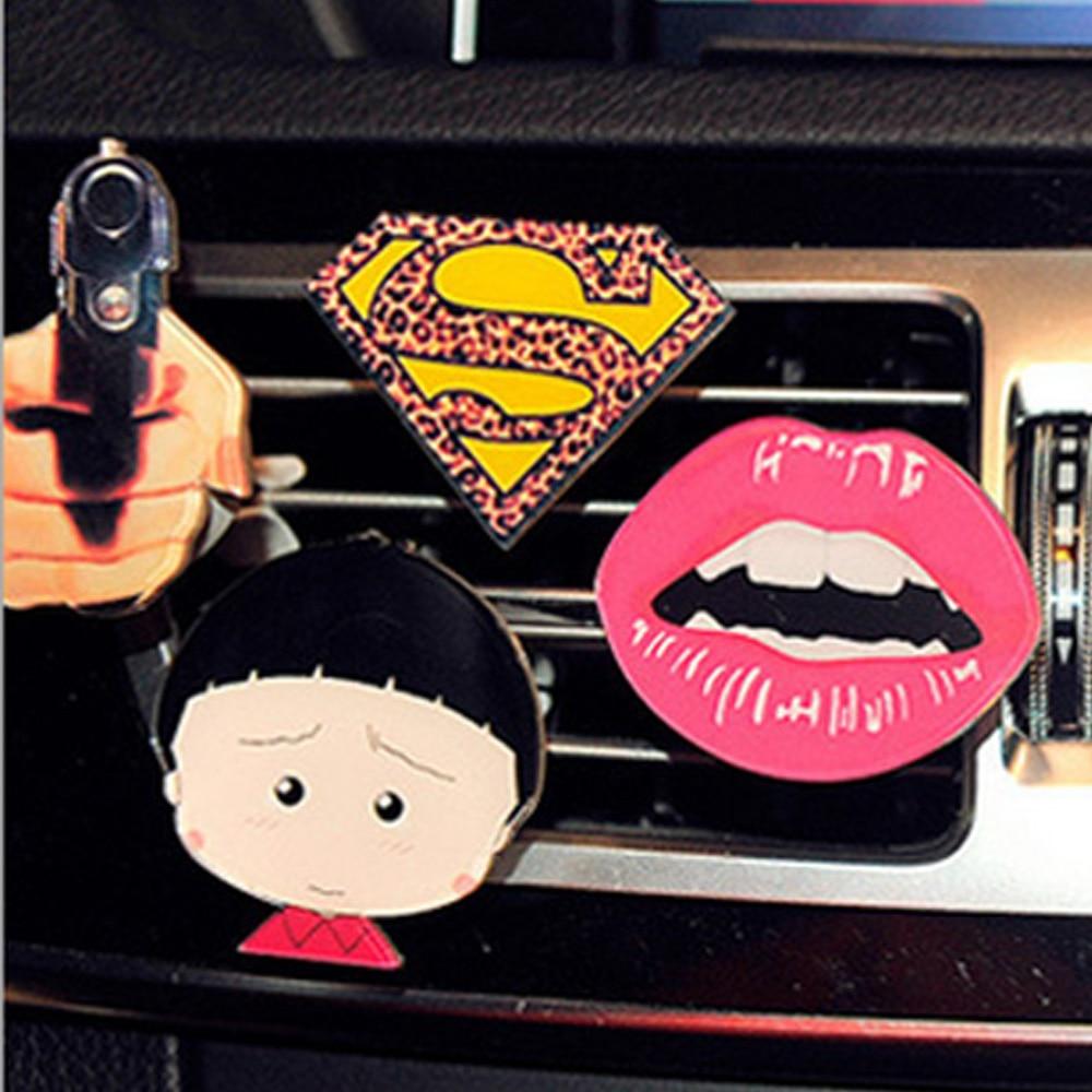 ANZULWANG Mult Cartoon Logo Autod Sisekaardid Õhuventilatsioonid Parfüümid Õhuvärskendaja Autode marli parfüümid Autode õhu väljalaske parfüümid