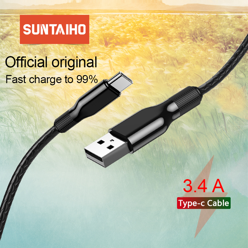 Suntaiho USB Type C Cable for Samsung S10 USB C Cable for Xiaomi Redmi Note 7 Fast Fast