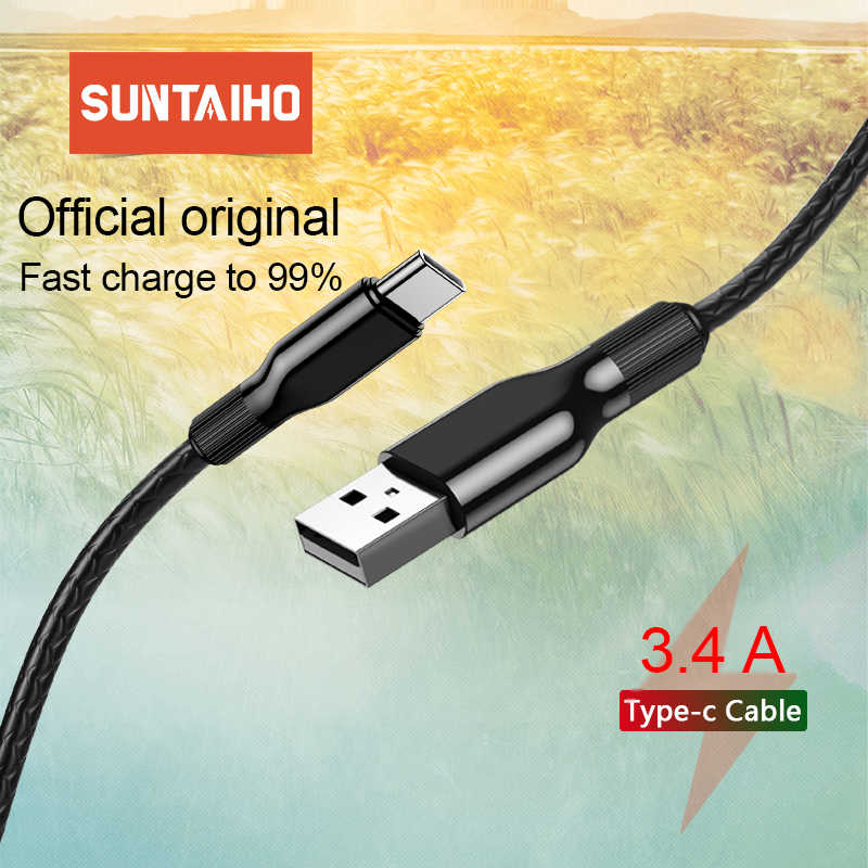 Suntaiho kabel USB typu C do Samsung S10 USB C kabel do Xiaomi Redmi Note 7 kabel szybkiego ładowania USB-C telefon komórkowy przewód zasilający