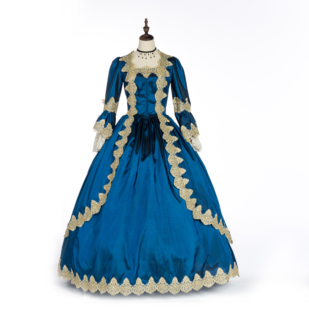 Women's Medieval Fancy Dress Victorian Costume Floor-Length Gothic Ball Gown
