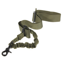 Durable Nylon Multi-function Adjustable Tactical single point Bungee Rifle Gun Airsoft Sling hunting gun Strap Army Green