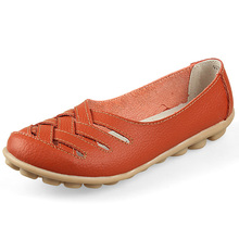 Spring Summer Loafers Women Slip On Flats Shoes Split Leather Moccasins Zapatos Mujer Women Flat Shoes Woman Nurse Shoes