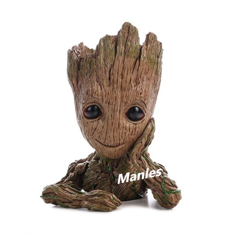 Guardianes de la galaxia de olla 2 traje de Ekubannye en macetas bebé Groot figuras de acción de juguete guardia traje regalo chico maceta jardinería