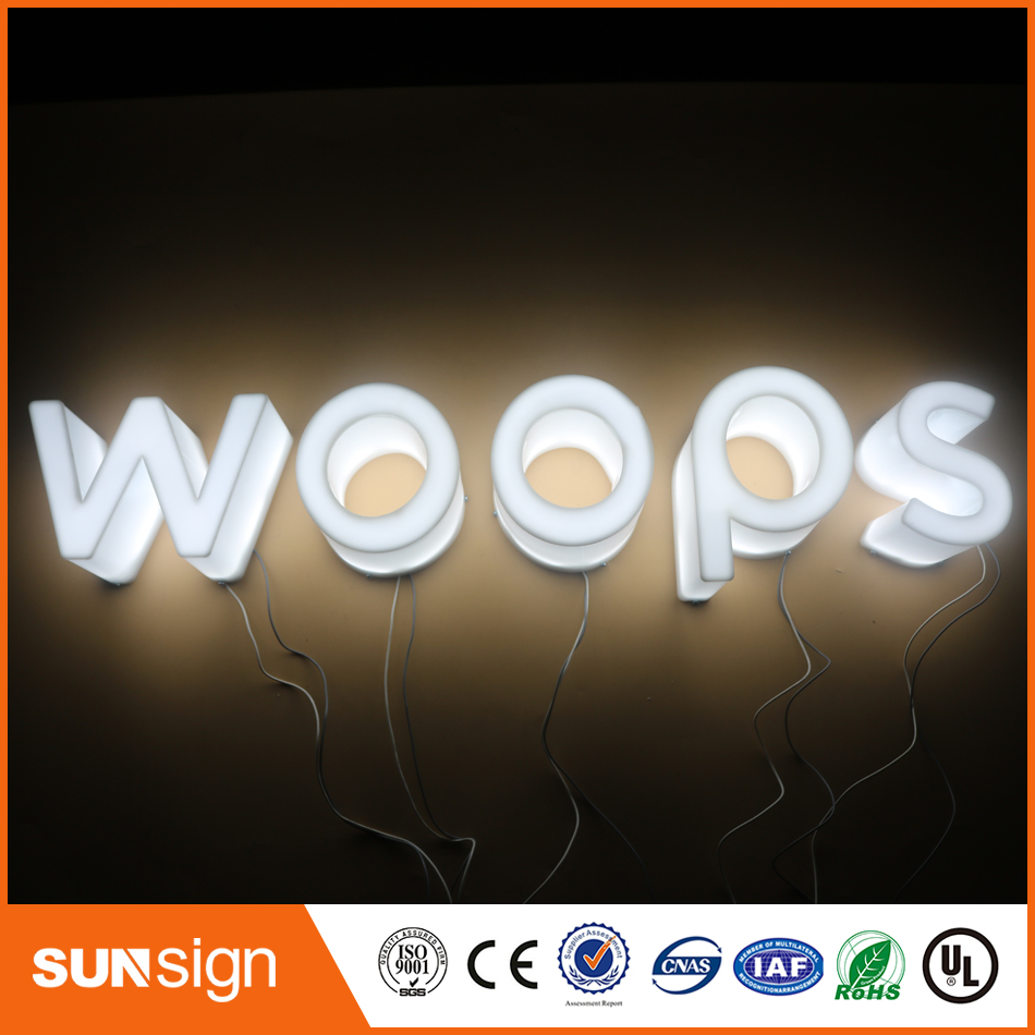 Wholesale LED lighted galvanized letters illuminated sign