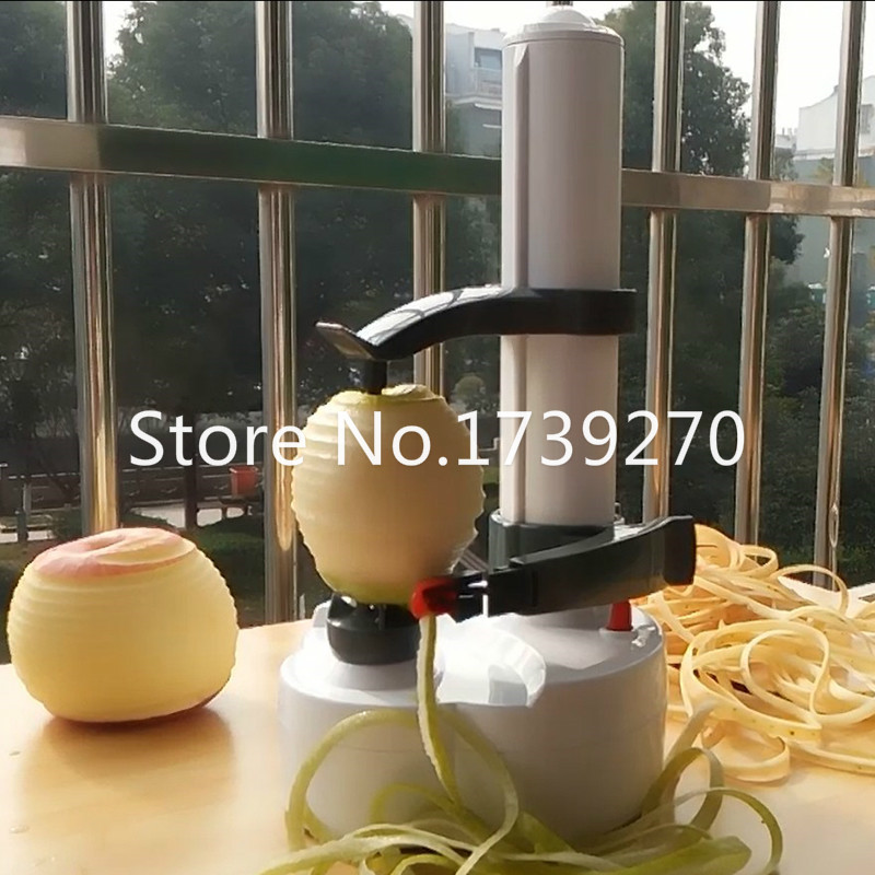Multifunction Electric Vegetables Fruit Apple Peeler Automatic Peeling Machine Touch Auto Rotate Peeler 2 Stainless Steel Blades multifunctional apple peeler fruit peeled tool