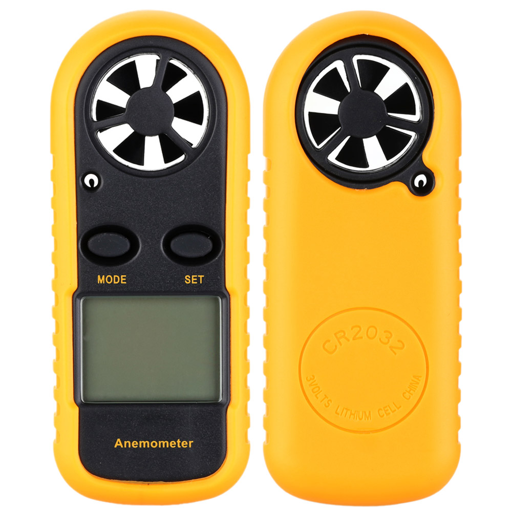 Handheld Digital Portable Wind Speed Air Volume Measuring Meter Anemometer Electronic tachometer LCD anemometro with Backlight