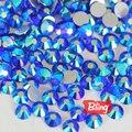 Todos os Tamanhos de Vidro Não Hotfix Strass Flatback Cristal Strass Sapphire AB Para Unhas DIY Decorações Da Arte Do Prego H0041