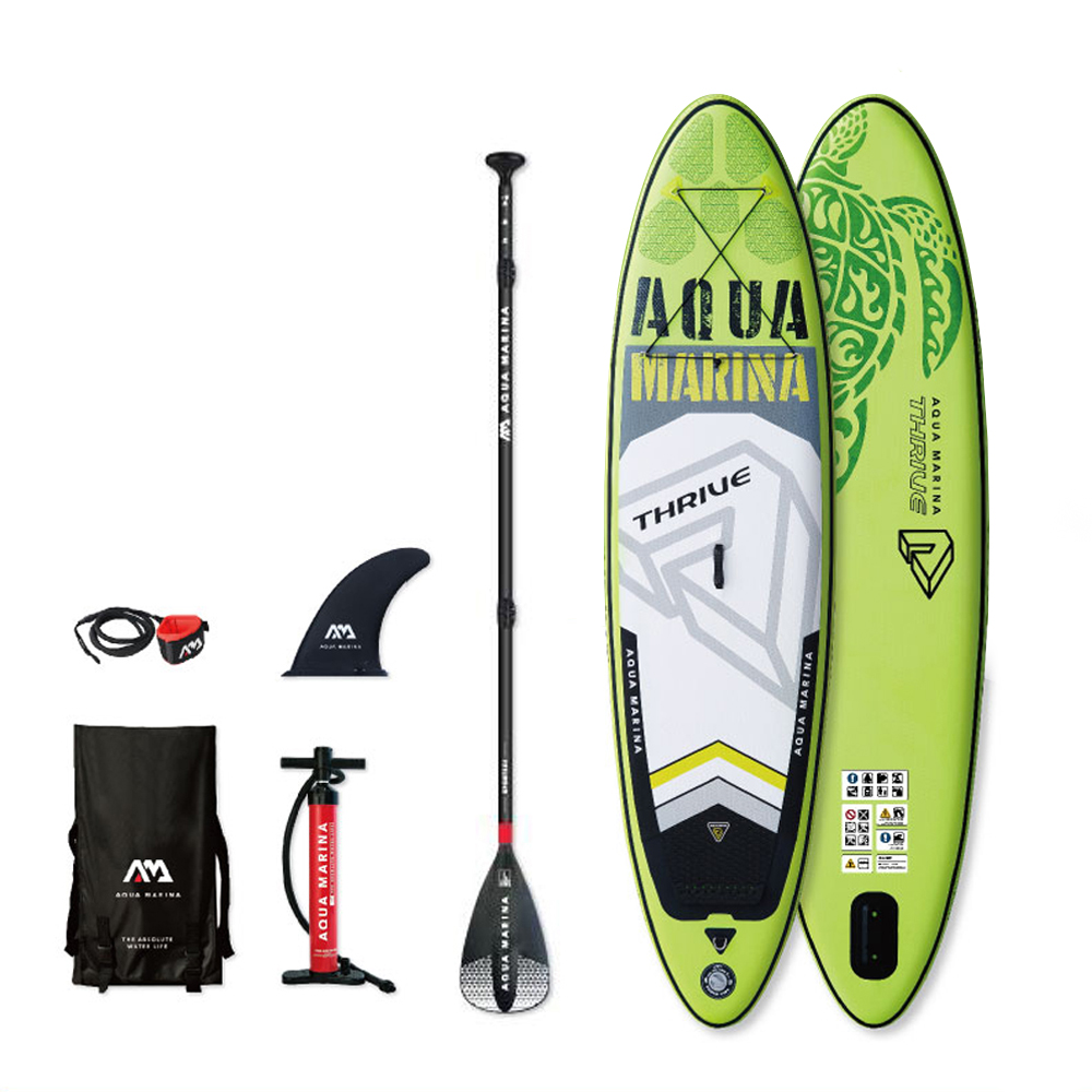 THRIVE - 3.15m / 15cm SInflatable Sand Up SUP Paddle Board with Carry Backpack Air Pump Fin Safety Rope