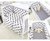 Promoção! 6/9 pçs dot conjuntos de cama do bebê conjunto berço kit de berço roupa de cama crianças berço pára-choques crianças protetor de cama conjunto inteiro