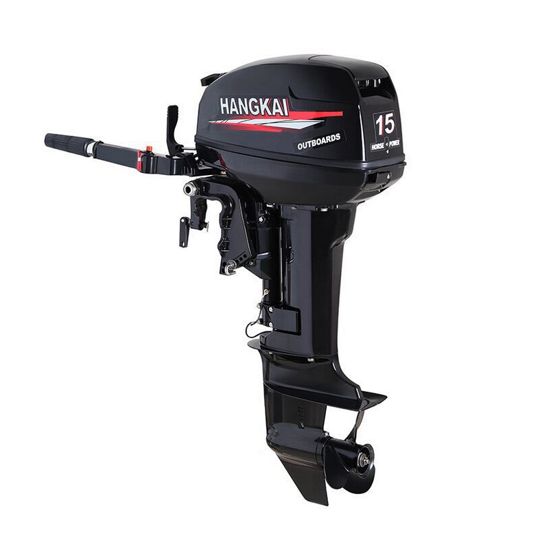 HANGKAI two cylinder 246cc 2-stroke 15HP outboard motor propeller plane hanging outboard marine motor ship kayak inflatable boat free shipping hangkai 2 stroke 4 hp outboard engines crankshaft