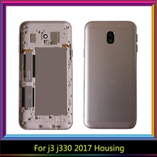 For Samsung Galaxy J3 2017 Back Housing J330 J330F Battery Cover Rear Door Case Chassis For SAMSUNG J3 2017 Back Housing