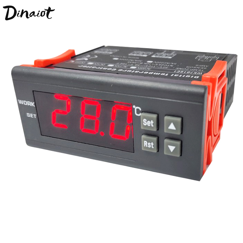 Digital Temperature Controller 220V/10A Cool/Heat Temp Thermostat Thermometer Thermocouple -50~110 Degrees For Farm Fridge