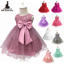 Free Shipping Formal Cotton Infant Dresses 2019 New Arrival Baby Dress For 1 Year Girl Birthday Toddler Party Gowns Newborns