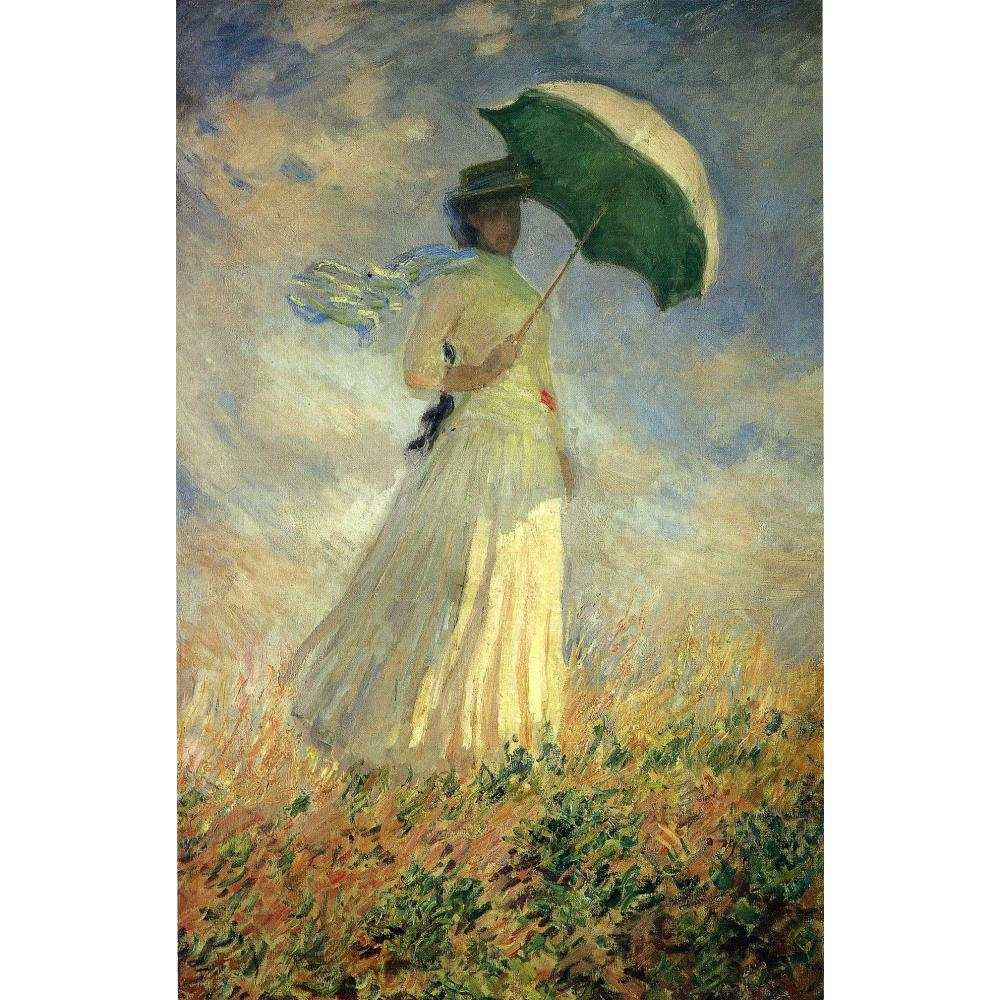 Claude Monet paintings on Canvas Woman with a Parasol Facing Right ...