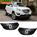 EEMRKE For ChangAn CS35 LED Angel Eye DRL H11 55W Halogen Yellow Fog Lights Lamp Daytime Running Light Car Styling