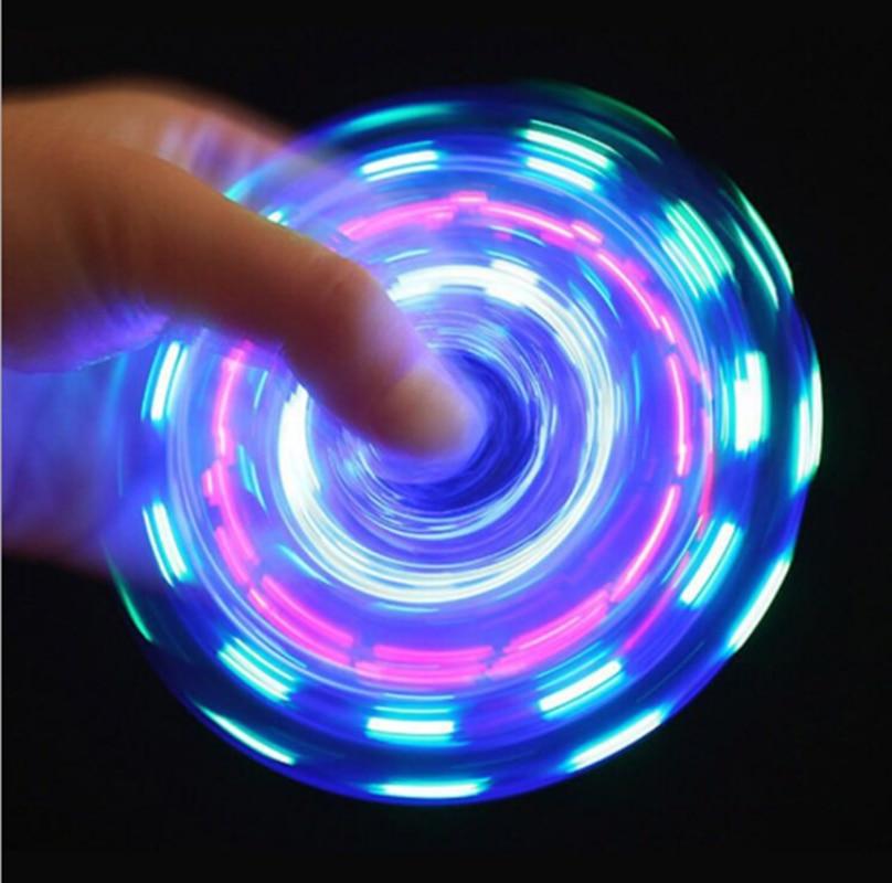 Светящийся светодиодный Спиннер ручной Спиннеры-мячики Светящиеся в темноте светящиеся Спиннеры для пальцев игрушки для снятия стресса