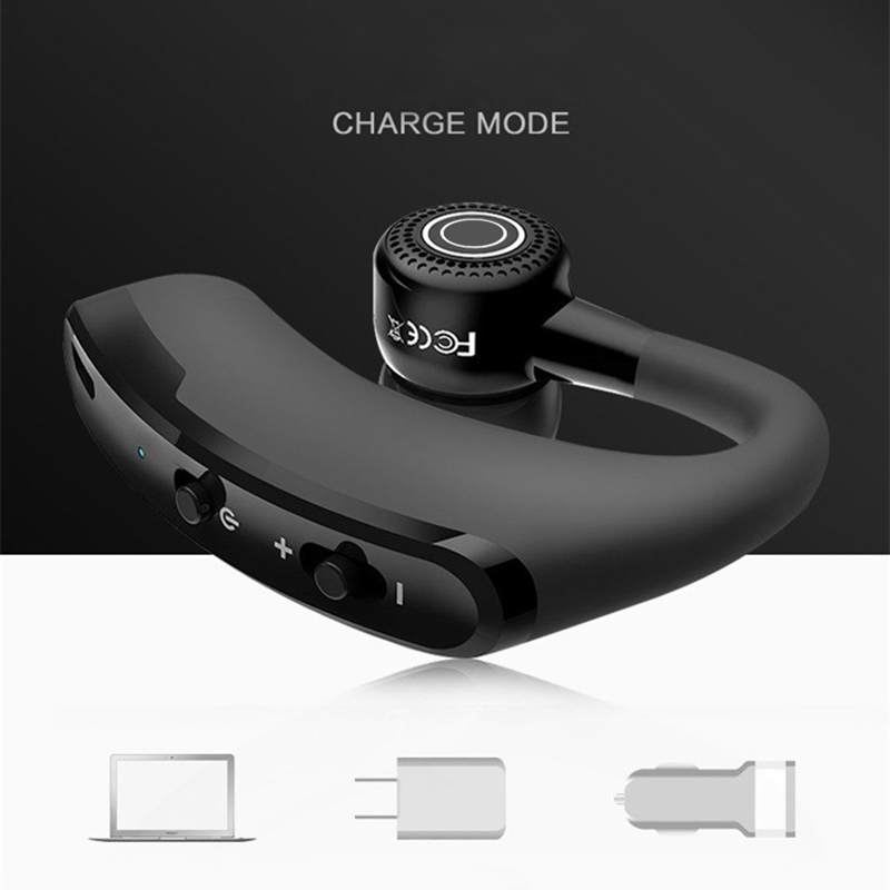 KAPCICE V9 Handsfree Business Wireless Bluetooth Headset With Mic Voice Control Headphone For Drive Connect With 2 Phone