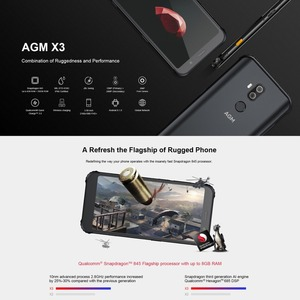 Image 5 - AGM X3 Rugged Phone 8GB+256GB Smartphone IP68 Waterproof Fingerprint 5.99 Android 8.1 Octa Core Wireless Charging Smartphone