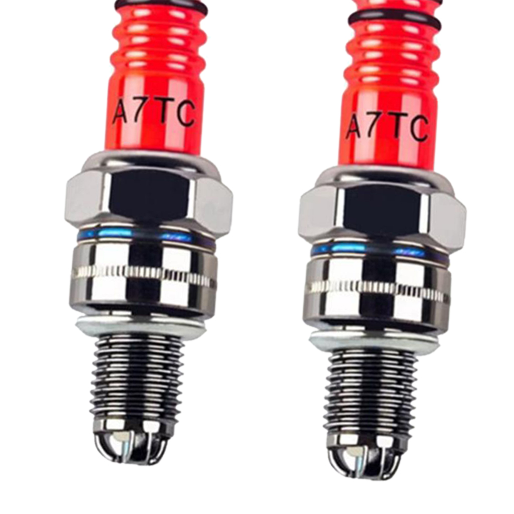 Image 5 - 2 Pcs Auto Replacement Spark Plugs High Performance 3 Electrode Motorcycle Spark Plug A7TC For 50cc 150cc Scooters ATVs Go Carts-in Spark Plugs & Glow Plugs from Automobiles & Motorcycles