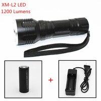 Uranusfire Ultra Bright 10W XM L2 LED 1200LM A6 Flashlight Camping Torch 5 Modes Light Use