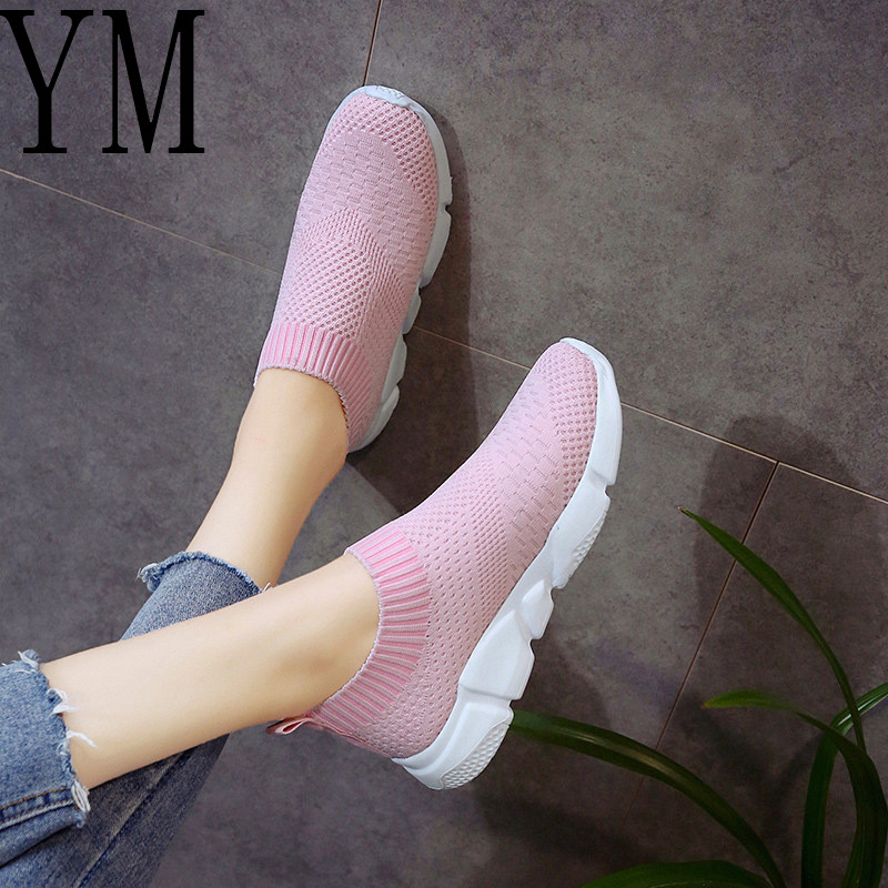 2018 Breathable Mesh Summer Shoes Woman Comfortable Cheap Lazy Casual Ladies Shoes New Outdoor Sport Women Sneakers for Walking summer lazy white shoes women 2018 new korean version joker hollow breathable cloth shoes mesh shoes