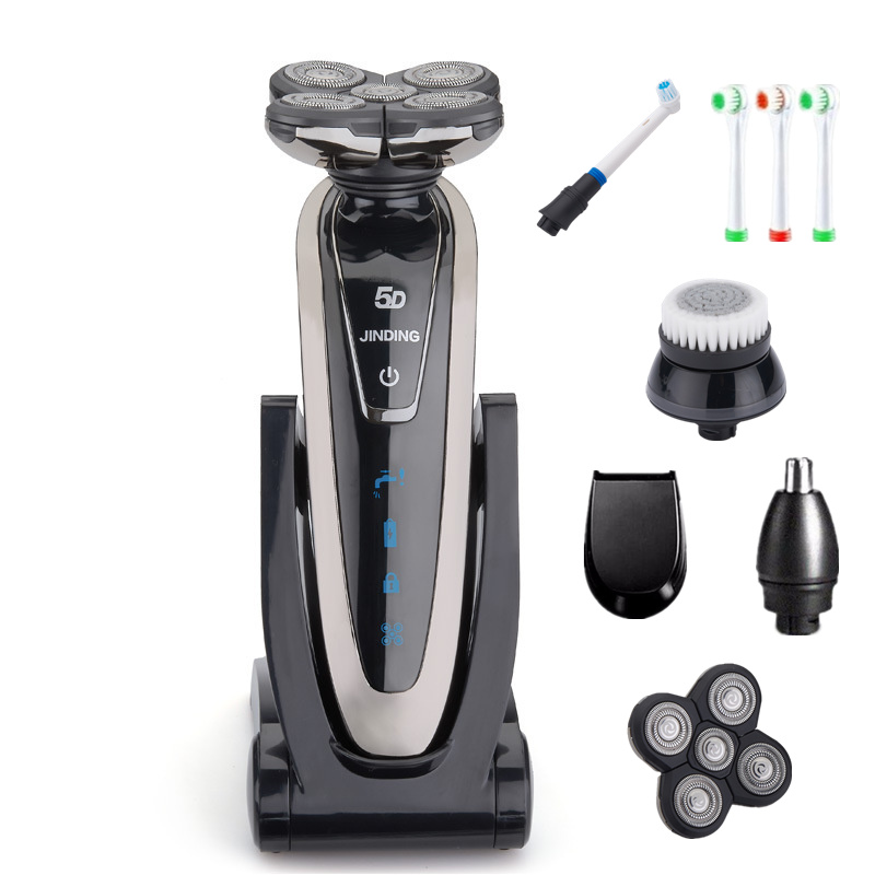 Rotate 5 Blade Shaver Electric Shaver Rechargeable Electric Razor for Men Beard Shaving Machine Waterproof with Accessories 3 blade led display electric shaver razor for men rechargeable face shaving machine waterproof beard shaver cord