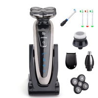 Rotate 5 Blade Shaver Electric Shaver Rechargeable Electric Razor for Men Beard Shaving Machine Waterproof with Accessories