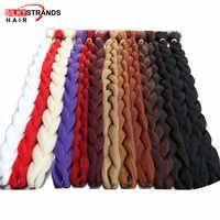 Brins soyeux 82 pouces cheveux synthétiques Jumbo tresses 165 g/paquet Kanekalon Blonde Crochet faux tressage Extensions de cheveux