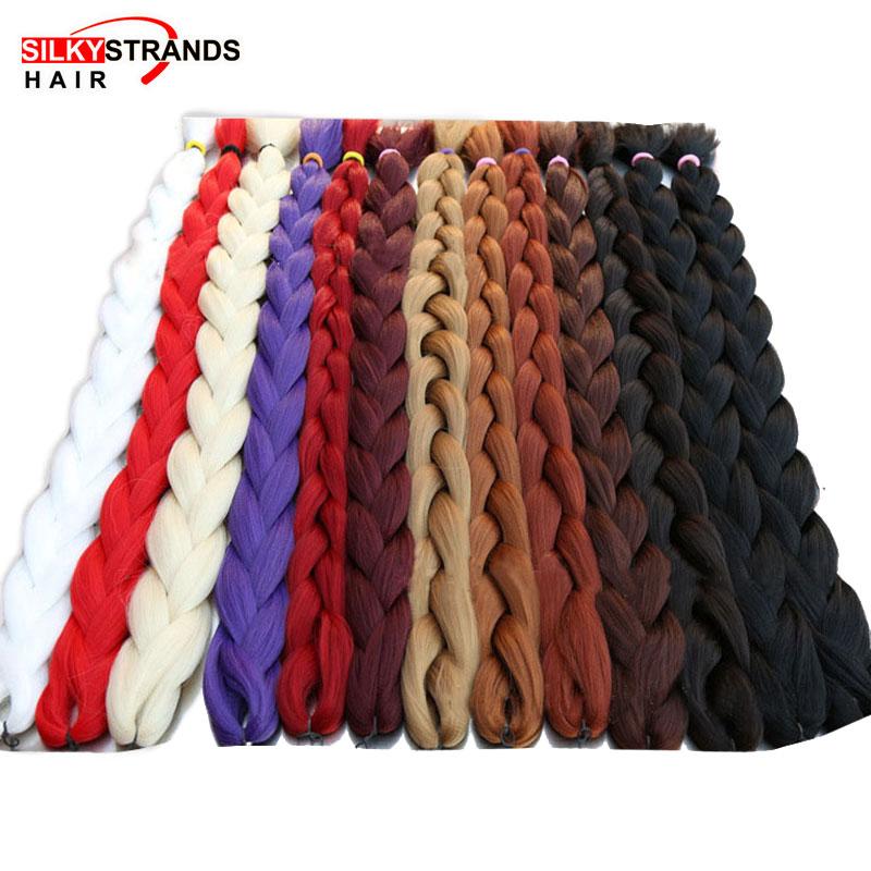 82-дюймовые синтетические вязанные крючком волосы Джамбо плетеные волосы предварительно растягивающиеся 165 г/упак. низкотемпературные волокна для наращивания волос для коробочных косичек