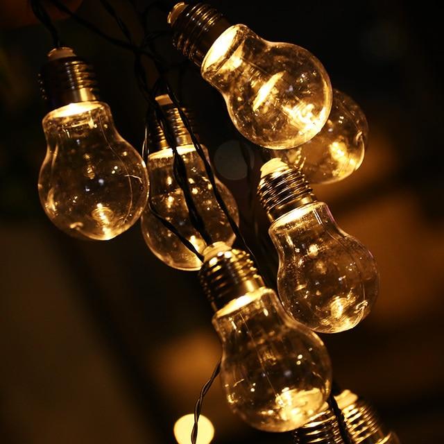 Merveilleux 10 LED Transparent Globe Ball String Lights 4M Solar Powered Christmas  Light Patio Lighting For Home