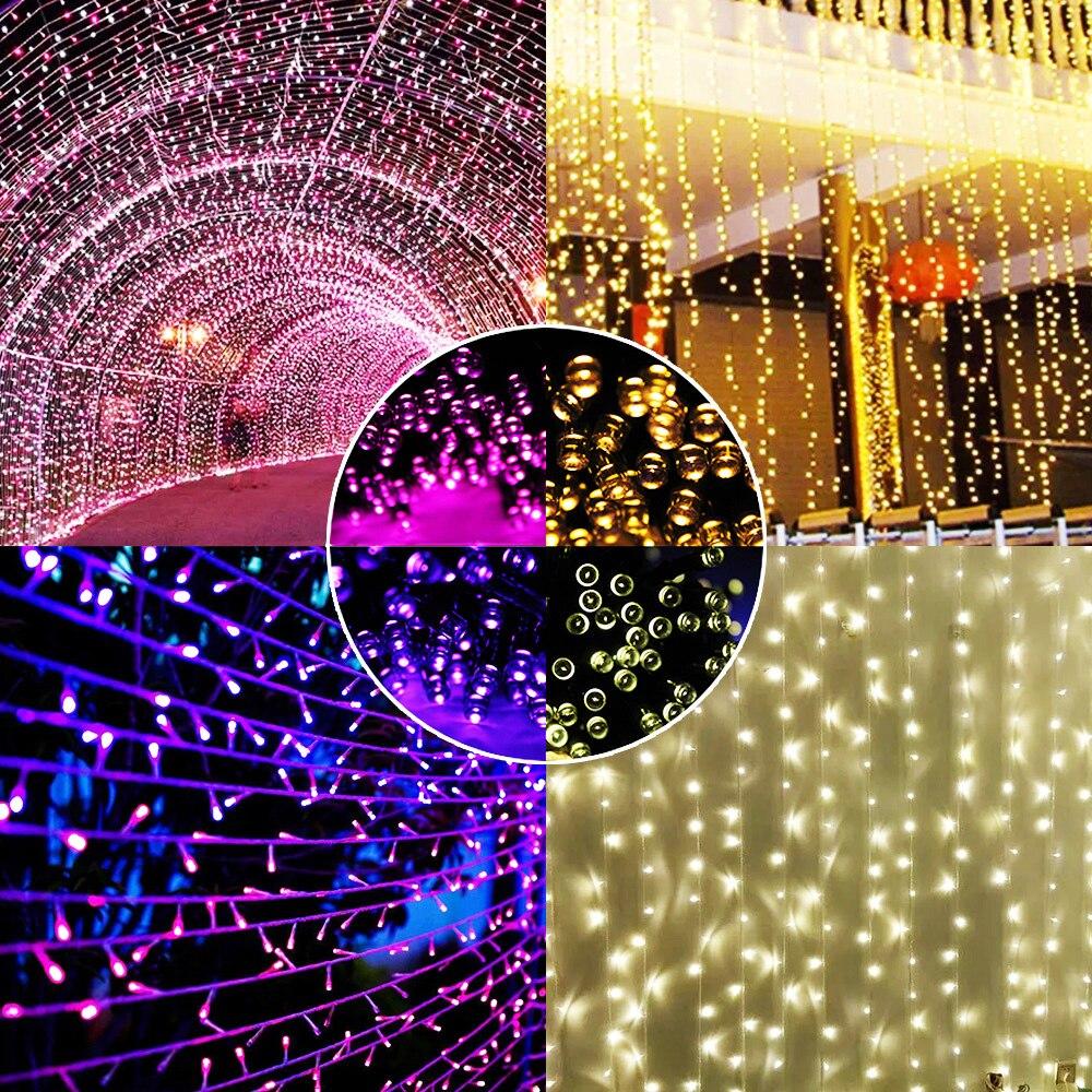 100 LED Solar String Light Outdoor Waterproof Fairy Solar Lights For Garden Decoration Christmas Solar Powered Lamp Strip 200LED (9)