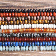 Lan Li fashion Jewelry 4x6mm multicolor natural stones Spacer beads DIY woman bracelet necklace ear stud and accessories