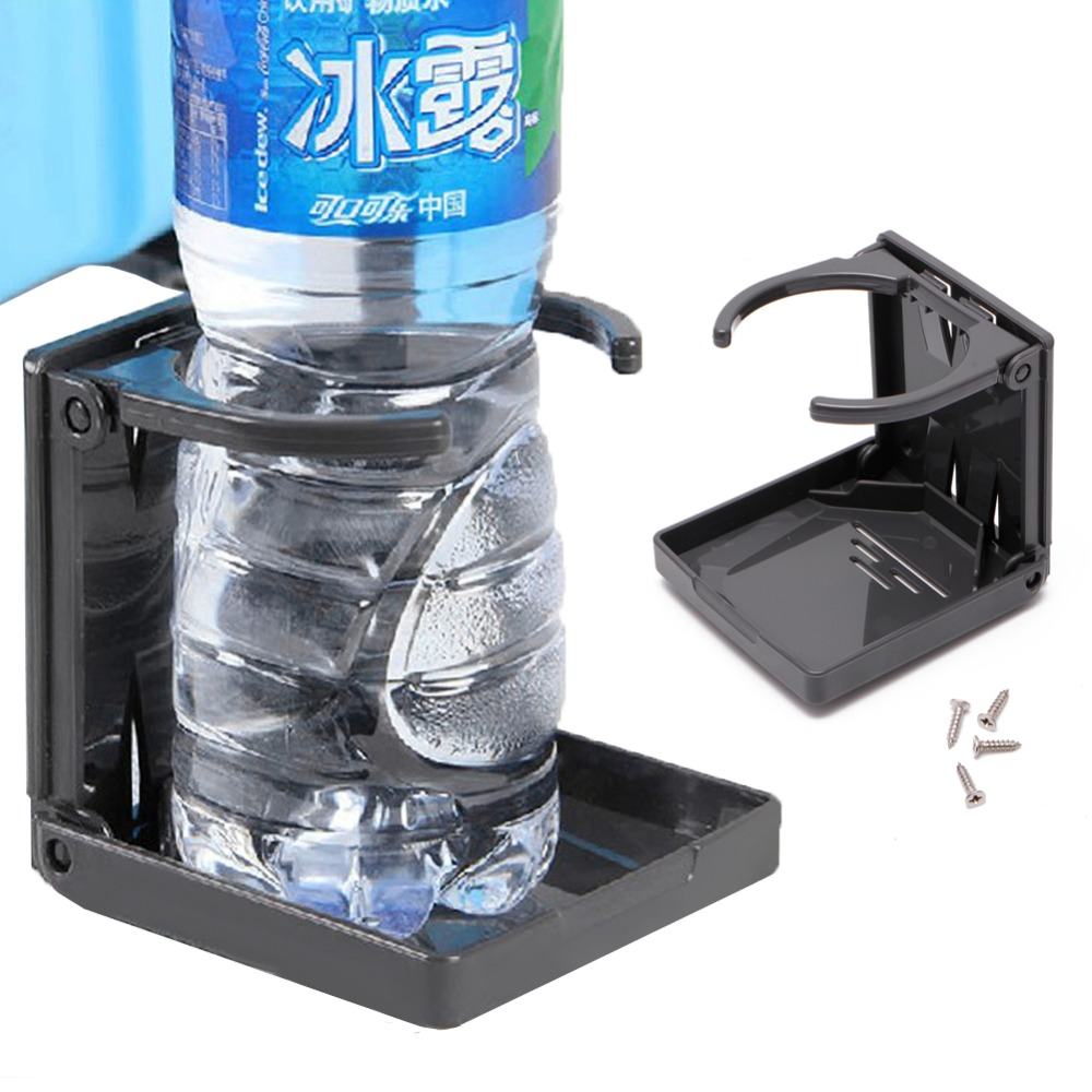 High Pressure Bottle Rack : New folding drink cup can bottle holder stand mount car